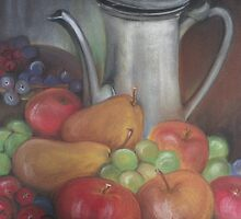 Jug and fruits by OlaG
