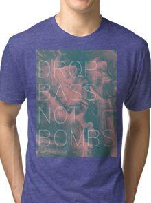 Drop Bass Not Bombs (Vintage) Tri-blend T-Shirt