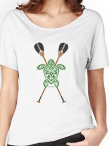 Green Tribal Turtle 2 Stand-Up / Maui Women's Relaxed Fit T-Shirt