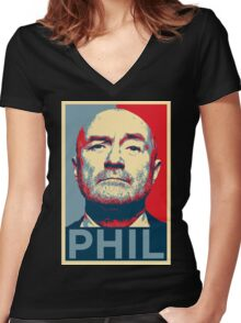 phil Women's Fitted V-Neck T-Shirt