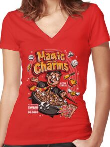 Magic Charms Women's Fitted V-Neck T-Shirt