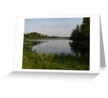 Lake Paradise Greeting Card