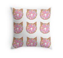 Cat Donut Throw Pillow