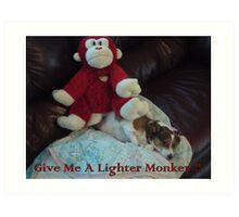 Lighter Monkey Art Print
