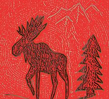 Red Moose by Brian Blaine