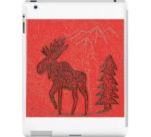 Red Moose iPad Case/Skin
