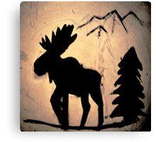 Moose Shadow Canvas Print