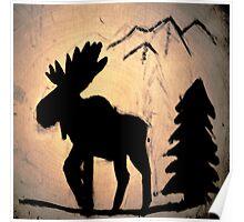 Moose Shadow Poster