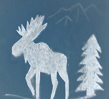 Snow Moose by Brian Blaine