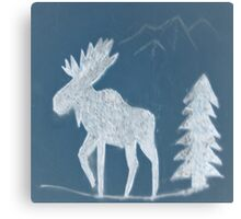 Snow Moose Canvas Print