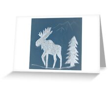 Snow Moose Greeting Card