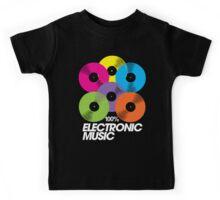 100% Electronic Music (black) Kids Tee