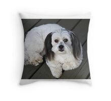 Olive the good dog Throw Pillow
