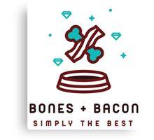 Bones & Bacon R.4 Canvas Print
