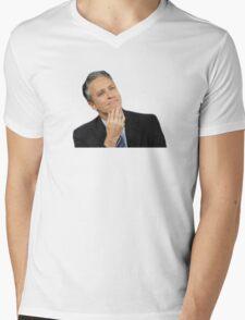 Jon Stewart Mens V-Neck T-Shirt