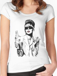 What Would Patsy Do, Sweetie? Women's Fitted Scoop T-Shirt