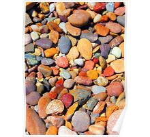 Vibrant Rock Bed Poster