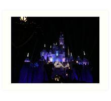 Disneyland Castle Diamond Celebration  Art Print