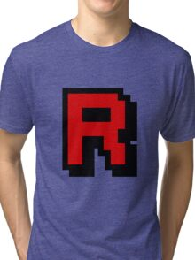 Team Pixellated R Tri-blend T-Shirt