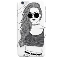 PRETTY TUMBLR GIRL merch iPhone Case/Skin