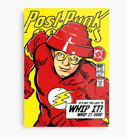 Post-Punk Comics | Whip It Metal Print