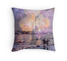 Pray For Surf Orchids Throw Pillow