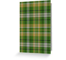 02623 Mercer County, New Jersey Fashion Tartan  Greeting Card