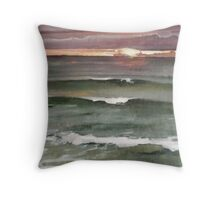 Green Wind-n-Sea La Jolla Sunset Throw Pillow