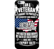 Veteran - Protect My Country iPhone Case/Skin