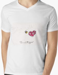 We will bee together Mens V-Neck T-Shirt