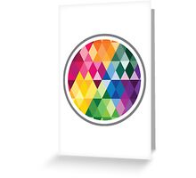 Colors in the Shapes Greeting Card