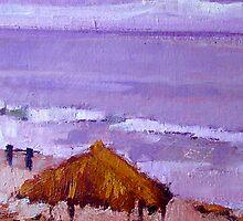 Purple Wind-n-Sea Hut by lynnGrayson
