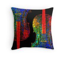 Cello Color Throw Pillow