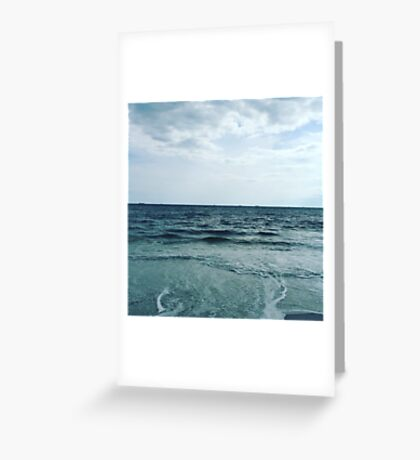 Blue skies and ocean waves are the best kind of days  Greeting Card