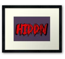 Hiddn Framed Print