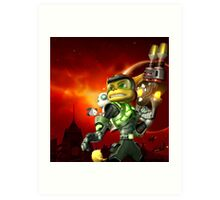 RATCHET CLANK ON ACTION Art Print