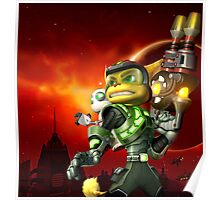 RATCHET CLANK ON ACTION Poster