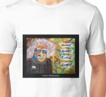 Einstein Abtract Art Think Differently Unisex T-Shirt