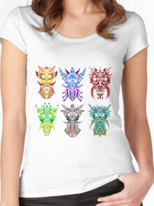 The Six Gods Women's Fitted Scoop T-Shirt