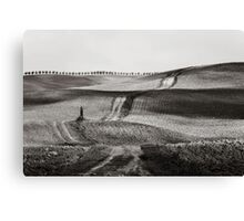Hills from Val d'Orcia, Tuscany Canvas Print