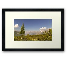 mountain peak in a summer day Framed Print