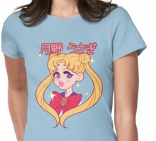 Sailor Moon Usagi Sparkly Portrait Womens Fitted T-Shirt