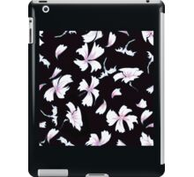 Pink Flowers on Black  iPad Case/Skin