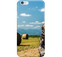 hay bale in the fields iPhone Case/Skin