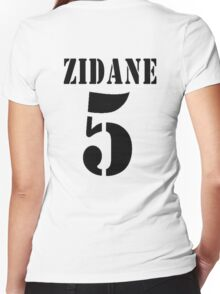 Zidane Real Madrid Women's Fitted V-Neck T-Shirt