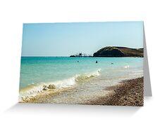 italian seaside in a summer day Greeting Card