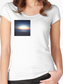 Abstract Sunset Women's Fitted Scoop T-Shirt