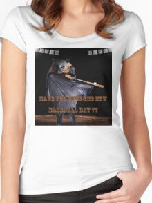 Baseball Bat Women's Fitted Scoop T-Shirt