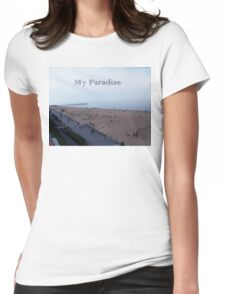 Beach Paradise Womens Fitted T-Shirt