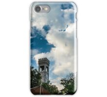storm over an ancient and ruined castle in the italian countryside iPhone Case/Skin